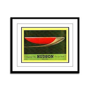 """""""1937 Hudson Brochure"""" Framed Panel Print"""