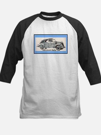 """""""1936 Lincoln Zephyr"""" Kids Baseball Jersey"""
