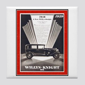 """""""1929 Willys-Knight Ad"""" Tile Coaster"""