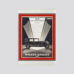 """1929 Willys-Knight Ad"" Rectangle Magnet"