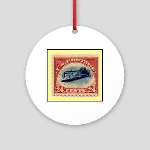 """1918 Inverted Jenny Stamp"" Ornament (Round)"