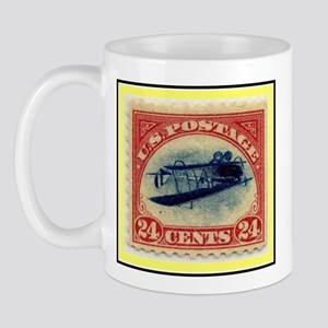 """1918 Inverted Jenny Stamp"" Mug"