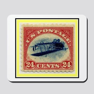 """""""1918 Inverted Jenny Stamp"""" Mousepad"""
