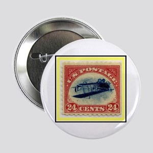 """1918 Inverted Jenny Stamp"" 2.25"" Button"
