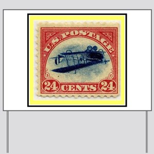 """1918 Inverted Jenny Stamp"" Yard Sign"