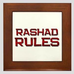 rashad rules Framed Tile