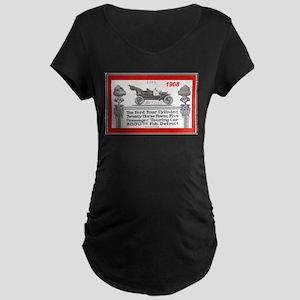 """Model T Ad"" Maternity Dark T-Shirt"