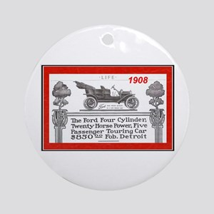 """Model T Ad"" Ornament (Round)"
