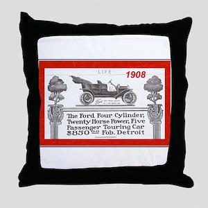 """Model T Ad"" Throw Pillow"