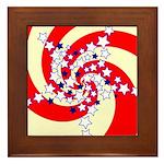Spiral Stars Framed Tile