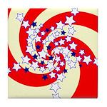 Spiral Stars Tile Coaster