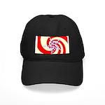 Spiral Stars Black Cap