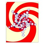 Spiral Stars Small Poster