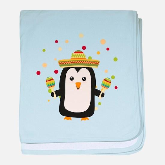 Penguin Mexico Fiesta Cz87f baby blanket