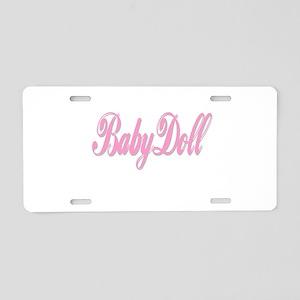 Babydoll Aluminum License Plate