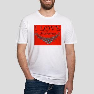 I Love Alabama Hot Affair Fitted T-Shirt