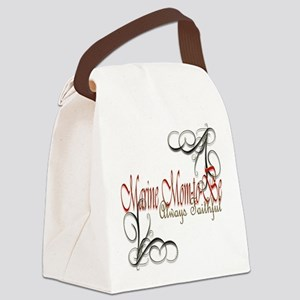 Swirl Marine Mom-To-Be Canvas Lunch Bag