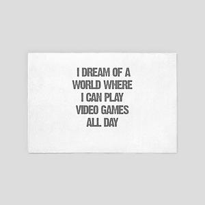 I Dream Of A World Where I Can Play Ga 4' x 6' Rug