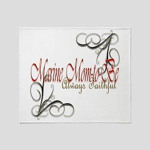 Swirl Marine Mom-To-Be Throw Blanket