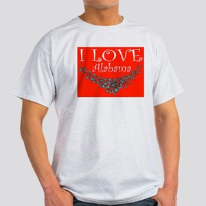 I Love Alabama Ash Grey T-Shirt