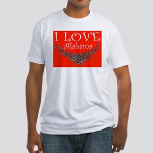I Love Alabama Fitted T-Shirt