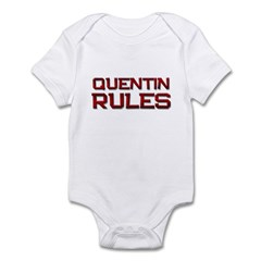 quentin rules Infant Bodysuit