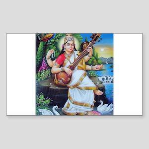 Saraswati ji Rectangle Sticker