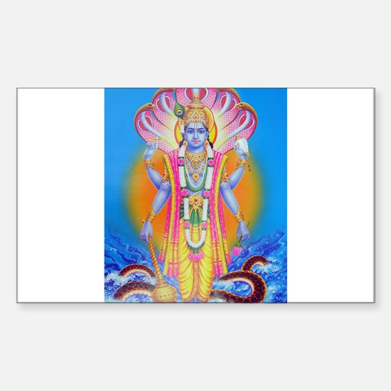 Vishnu ji Rectangle Stickers