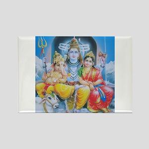 Shiva Parvati Ganesh ji Rectangle Magnet