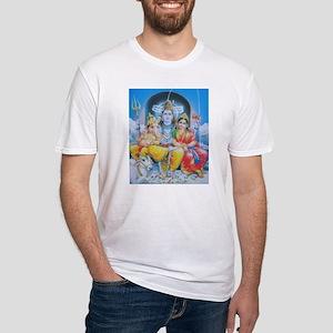 Shiva Parvati Ganesh ji Fitted T-Shirt