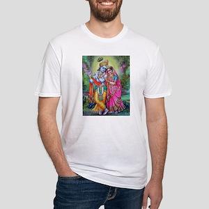 radha krishna Fitted T-Shirt