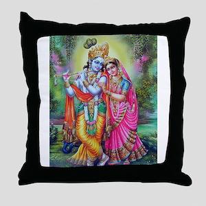 radha krishna Throw Pillow