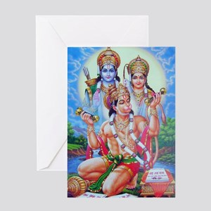 Ram Sita Hanuman Greeting Card