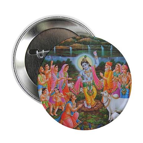 "Krishna Govardhana 2.25"" Button"