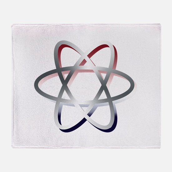 Atomic Symbol Red, White and Blue Throw Blanket