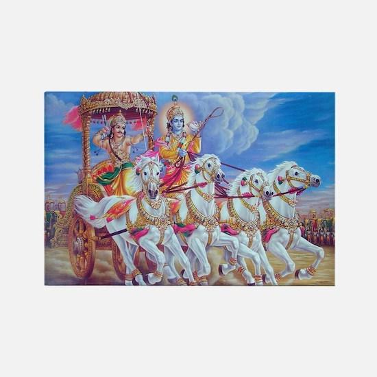 Krishna Arjuna Rectangle Magnet