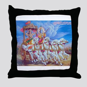 Krishna Arjuna Throw Pillow