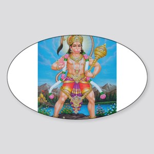 Jai Hanuman Oval Sticker