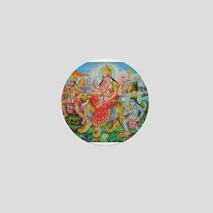 Durga Mata Mini Button