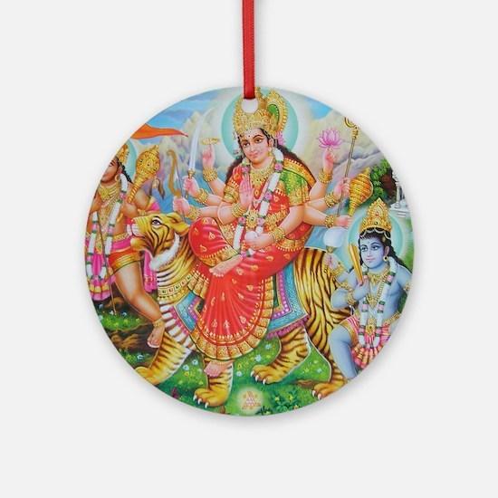 Durga Mata Ornament (Round)