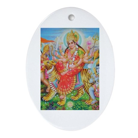 Durga Mata Oval Ornament