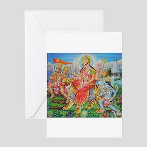 Durga Mata Greeting Card