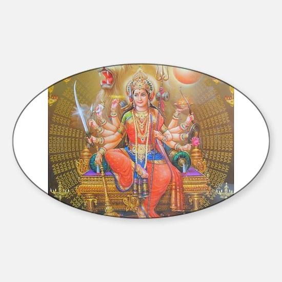 Durga ji Oval Decal