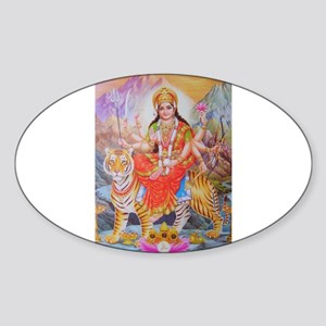 Durga mata ji Oval Sticker