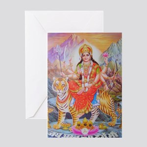 Durga mata ji Greeting Card