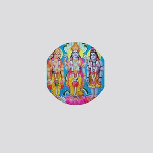 Brahma Vishnu Shiva Mini Button