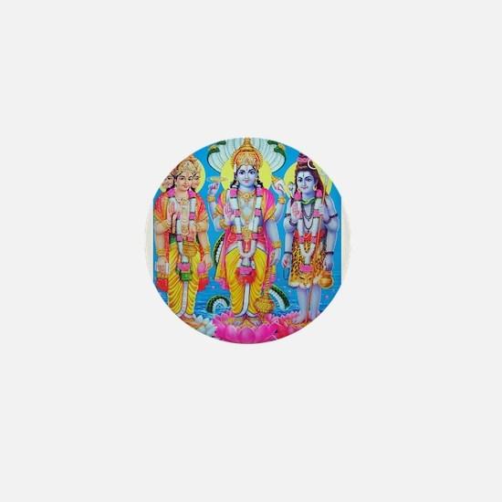 Brahma Vishnu Shiva Mini Button