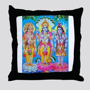 Brahma Vishnu Shiva Throw Pillow