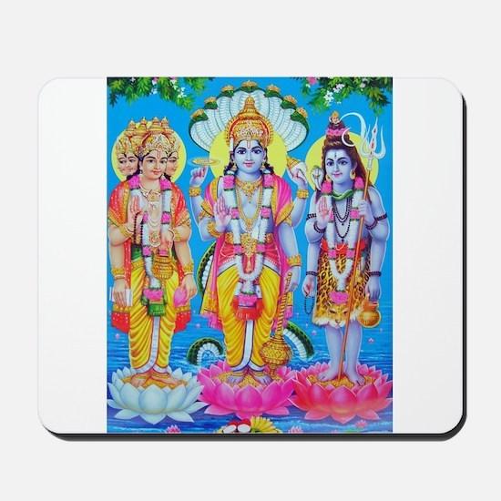 Brahma Vishnu Shiva Mousepad