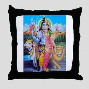 Ardhanareswara Throw Pillow